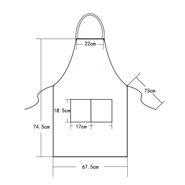 Premium Canvas Cooking Kitchen Apron - Unisex Chef Waiter Cafe Shop BBQ Hairdresser Aprons