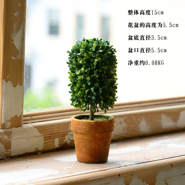 Pastoral style simulation plant fake flower potted indoor living room furnishings home decor