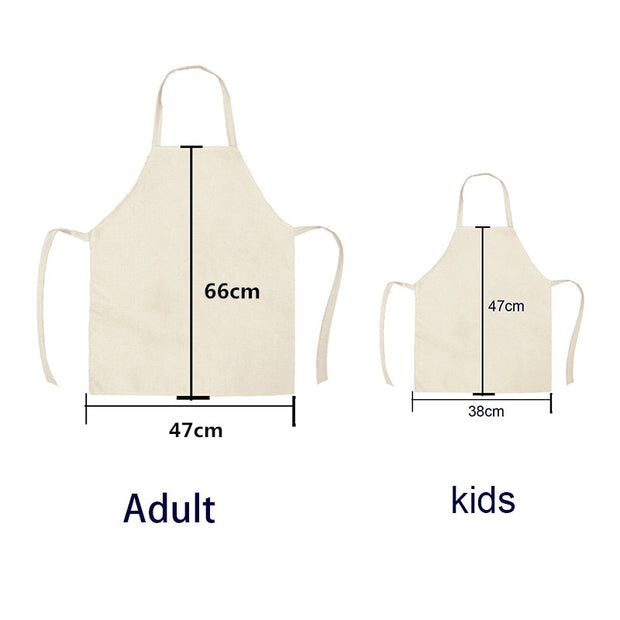Doggy Kitchen Aprons - Cotton Linen Aprons Home Cooking Baking Bibs 66x47cm 47x38cm