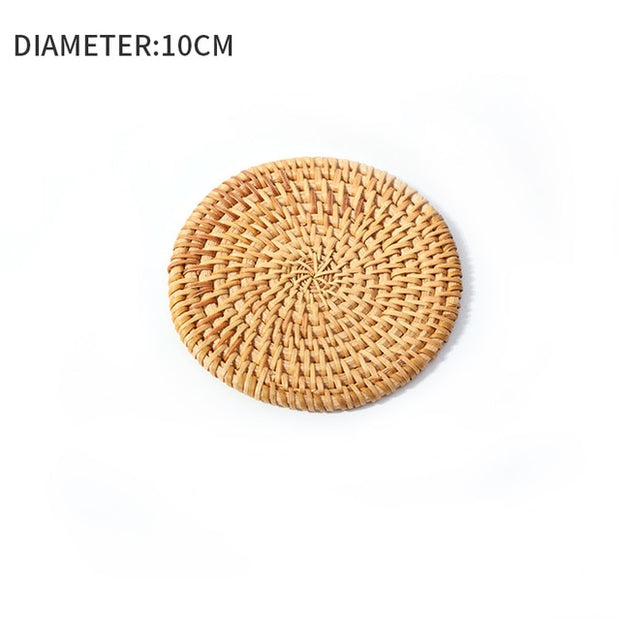 Natural Handmade Round Braided Hyacinth Woven Placemat