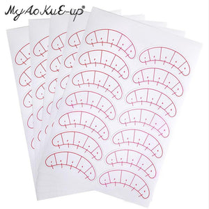 70 pairs Eye Sticker For Eyelashes Extension Grafted Eyelash Eye Pads Paper Patches Wraps Practice Patches Make Up Tools