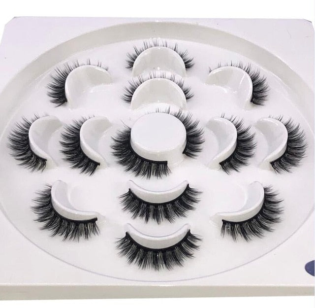 HBZGTLAD New 7 pairs natural false eyelashes fake lashes long makeup 3d mink lashes eyelash extension mink eyelashes for beauty