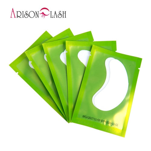 50/100 Pairs/Lot Patches for Eyelash Extension Under Eye Pads Paper Patches Pink Lint free Stickers for False Eyelashes