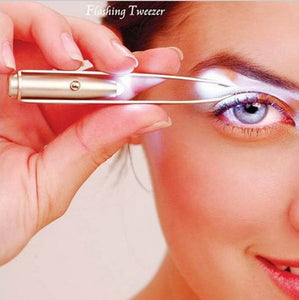 1pc LED Tweezer Eyelash Eyebrow Eyes Hair Remover Tools Stainless Steel Eyebrow Tweezers Beauty
