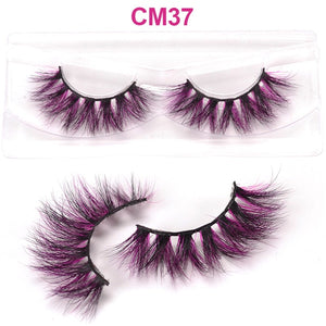 OKAYLASH Newest High End 3D Colored Real Mink Eyelashes Luxury  Rainbow Colorful Natural Cosplay  Eye lashes