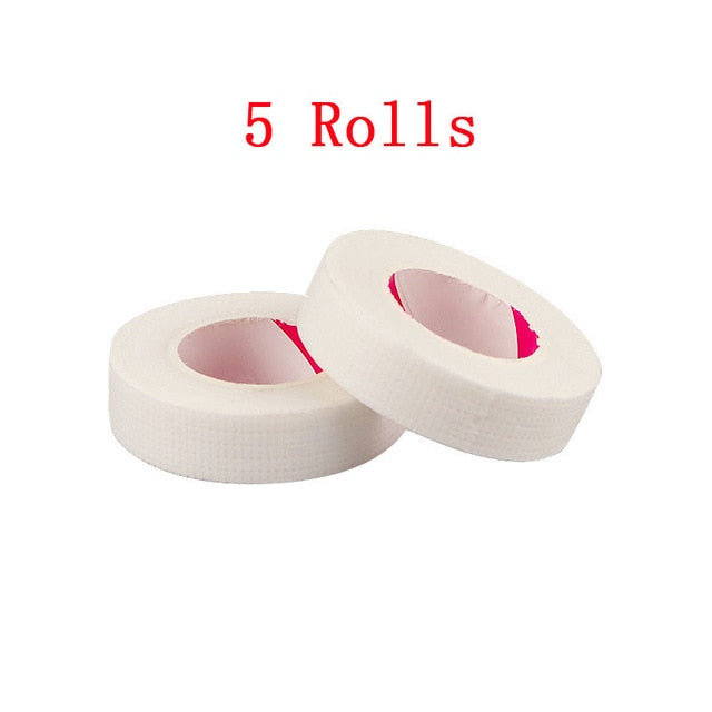 5Rolls 9M Eyelash Extension Medical Tape Under Eye Patches White Paper Isolation Lashes Patch