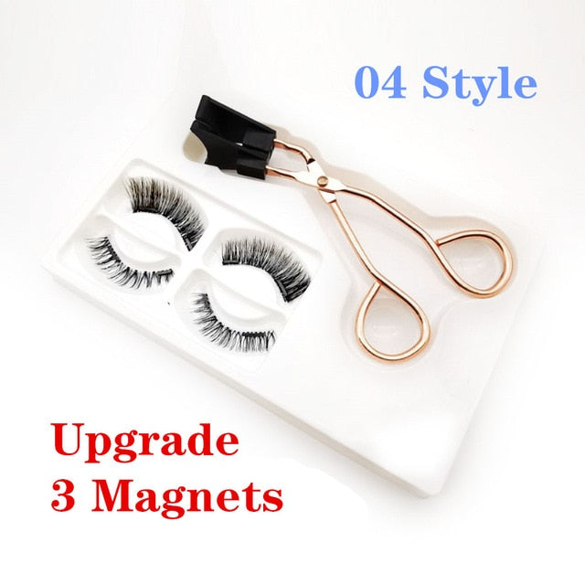 Magnetic Eyelashes Magnetic Lashes Magnetic False Eyelashes on Magnets Lashes Kit Magnetic Lash Kit Eyeliner Magnetic Cilp Set