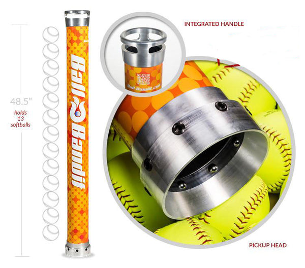 Softball Ball-Bandit with Integrated Handle (Orange)