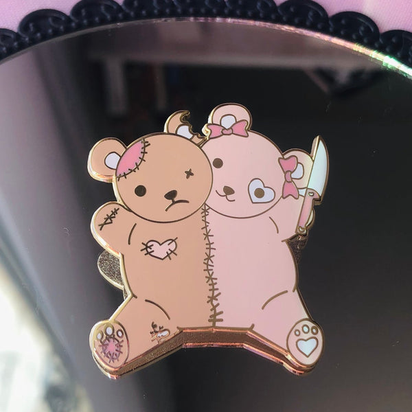 Conjoined Bears Pin