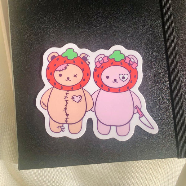 Strawberry Bears Sticker