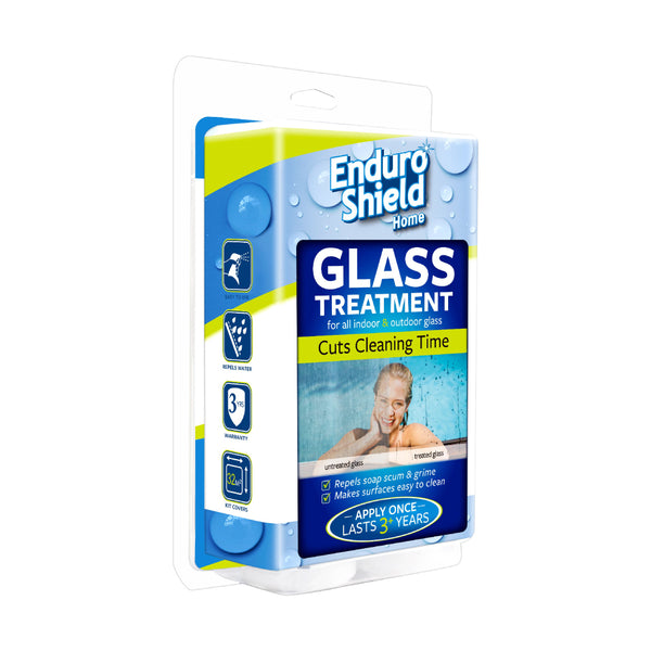 EnduroShield Home Easy Clean Treatment 500ml Kit For Glass Showers | Pool Fencing | Windows & More with Bonus Microfibre Cloth - Limited time only