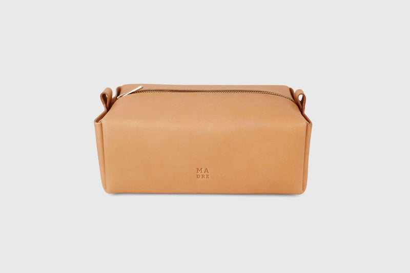 Vachetta leather dopp kit