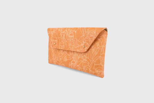 clutch bag made out of full grain leather