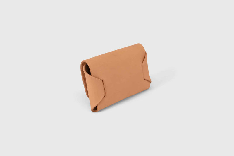 Origami leather credit card holder