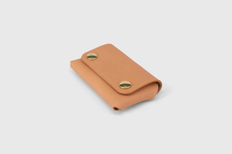 Folded origami vegtan leather business and credit card holder
