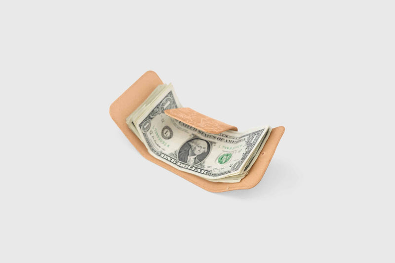 vegtan leather banknote holder