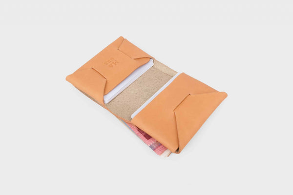 Leather Origami Wallet Brown