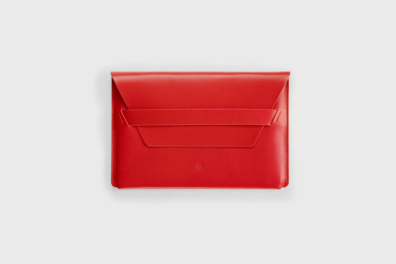 Leather Laptop Sleeve for 11 inch Macbook Pro Red-Manuel-dreesmann