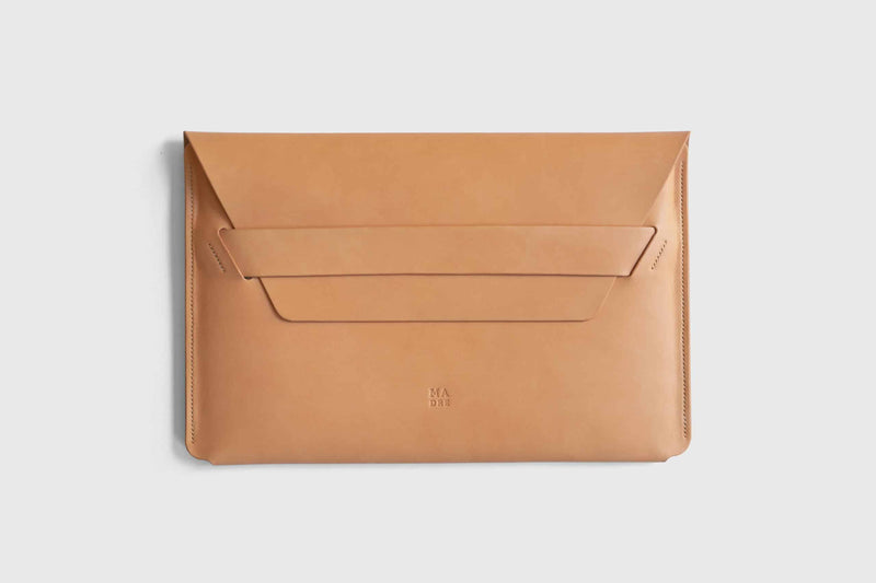 Vachetta leather sleeve for macbook pro 13 inch
