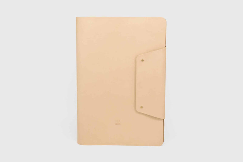 front view leather notebook with replaceable paper