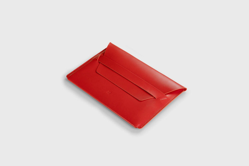 Leather Notebook Sleeve for Macbook Air 13 Inch 2021 Red-Manuel-dreesmann