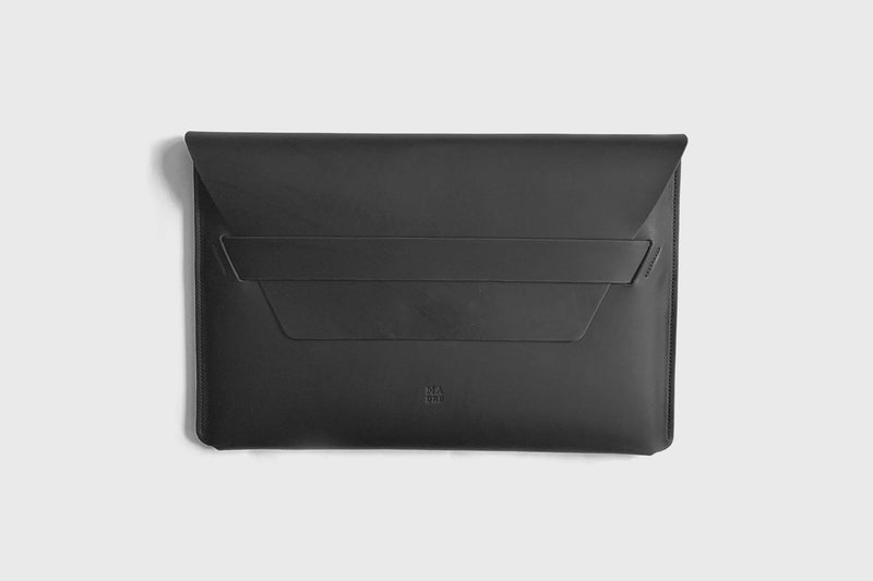 Leather Sleeve for Macbook Air 13 Inch 2021 Black-Manuel-dreesmann