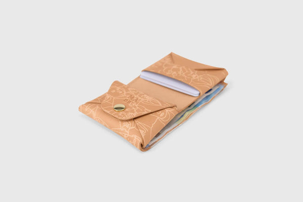 vegetable tanned leather wallet for coins