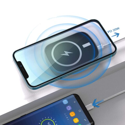 Magnetic wireless power bank