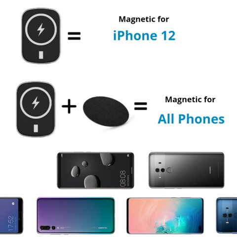 Magnetic for iPhone 12 and all Android phones Samsung