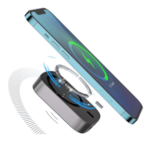 Magnetic wireless battery pack for iPhone 12