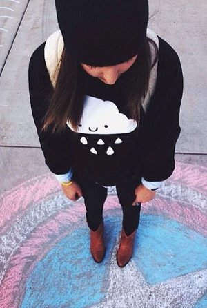 Kawaii Cloud Sweatshirt Adult Unisex