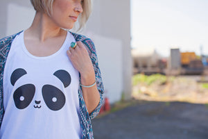 Kawaii Panda Tank Top Adult Unisex