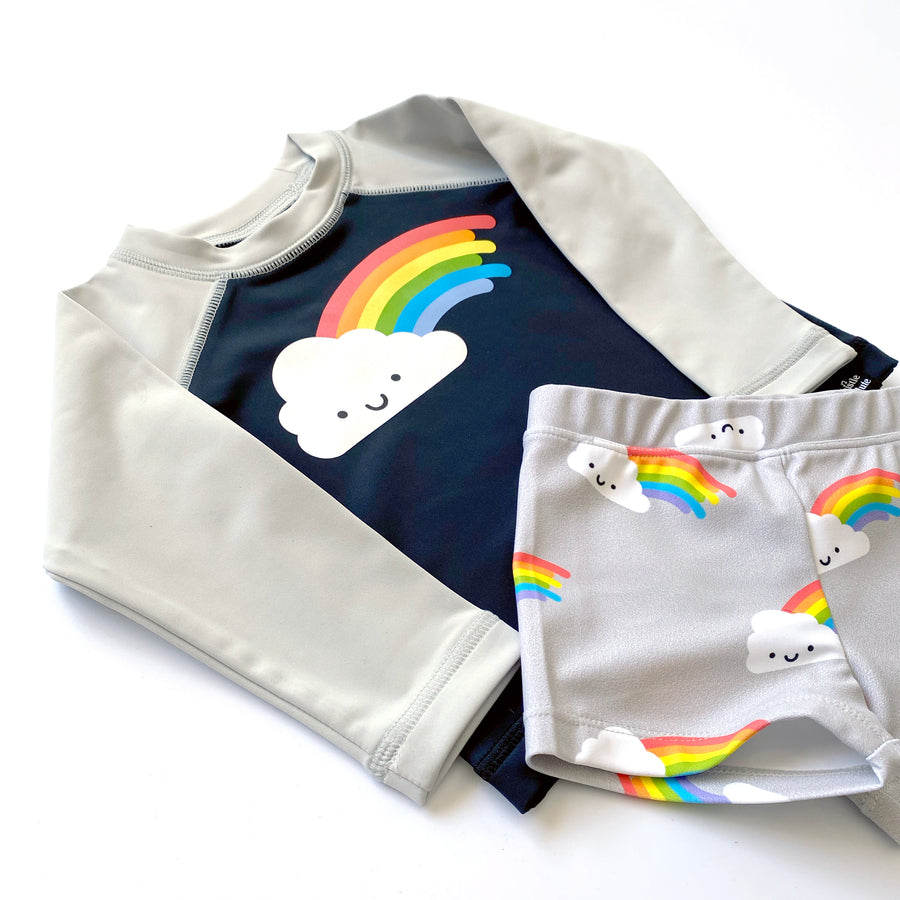Kawaii Rainbow Swim Trunks