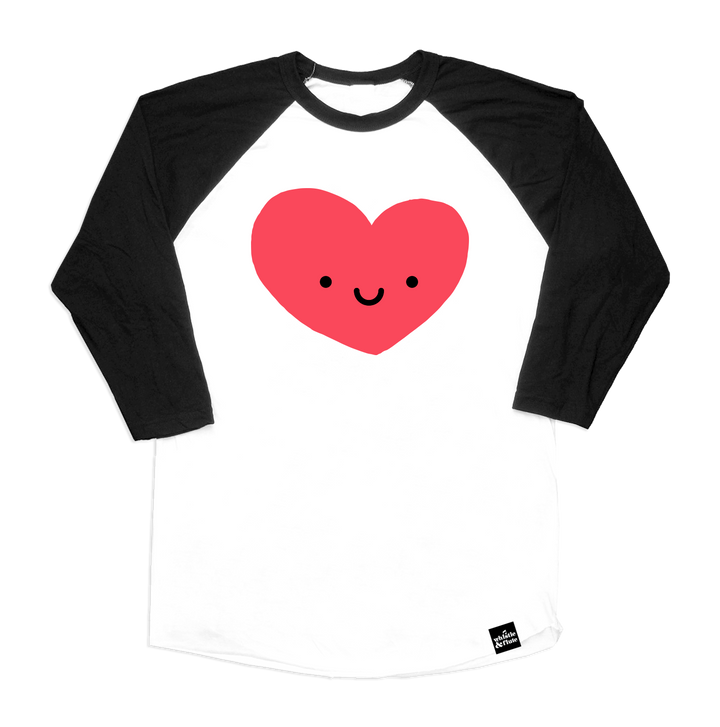 Kawaii Heart Baseball T-Shirt Adult Unisex
