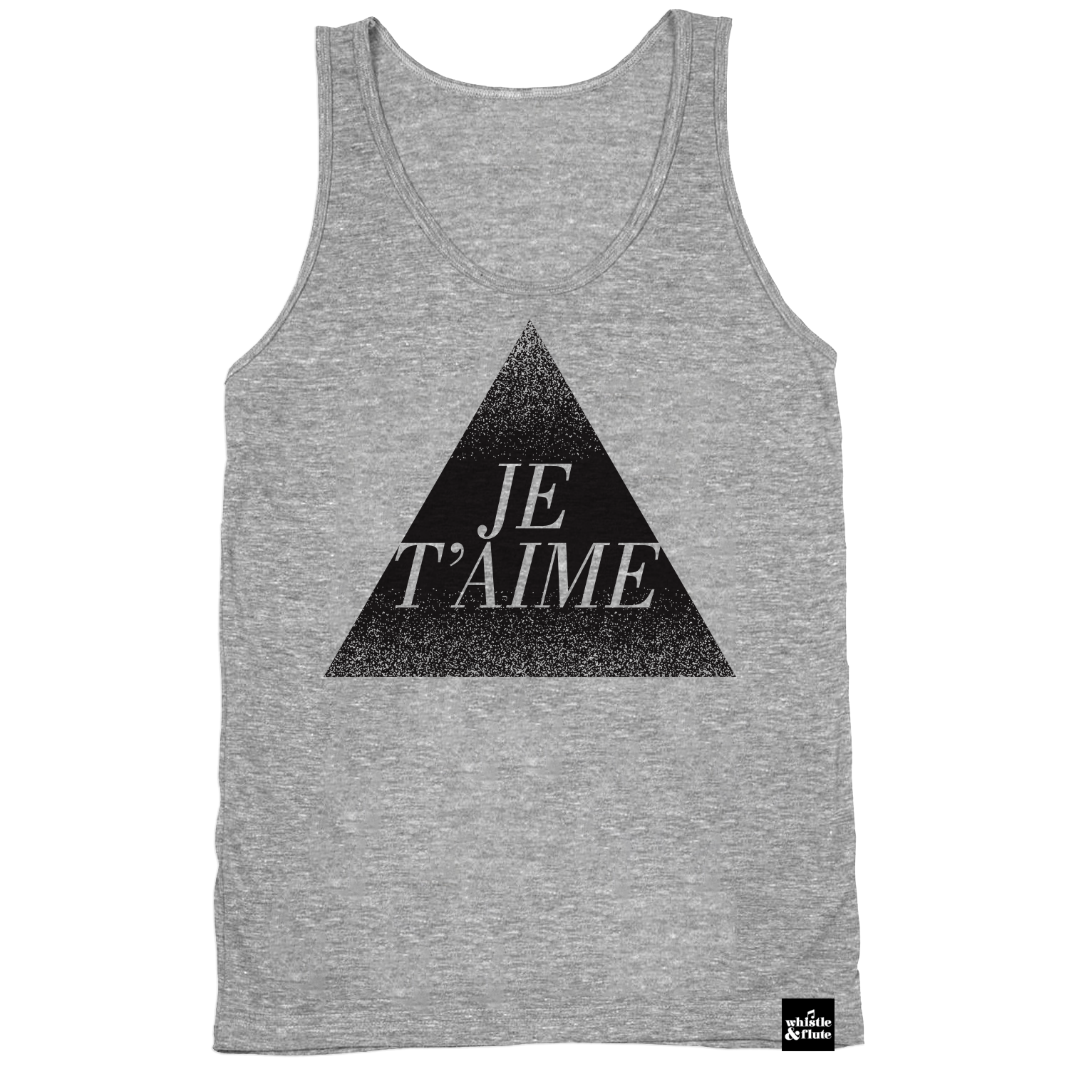 Je T'aime Tank Top Adult Unisex - Athletic Grey