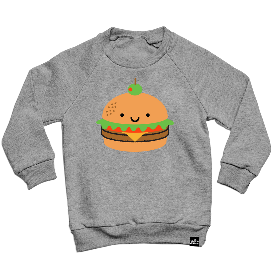 Kawaii Burger Sweatshirt Adult Unisex