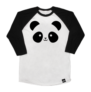 Kawaii Panda Baseball T-Shirt Adult Unisex