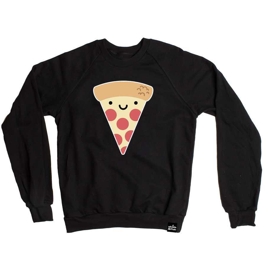 Kawaii Pizza Sweatshirt Adult Unisex