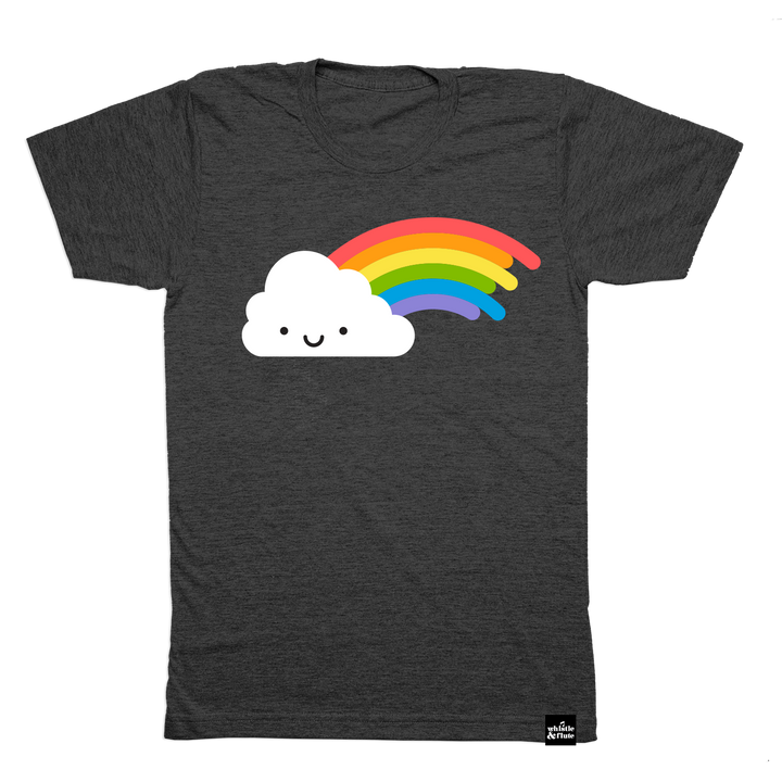 Kawaii Rainbow T-Shirt Adult Unisex Dark