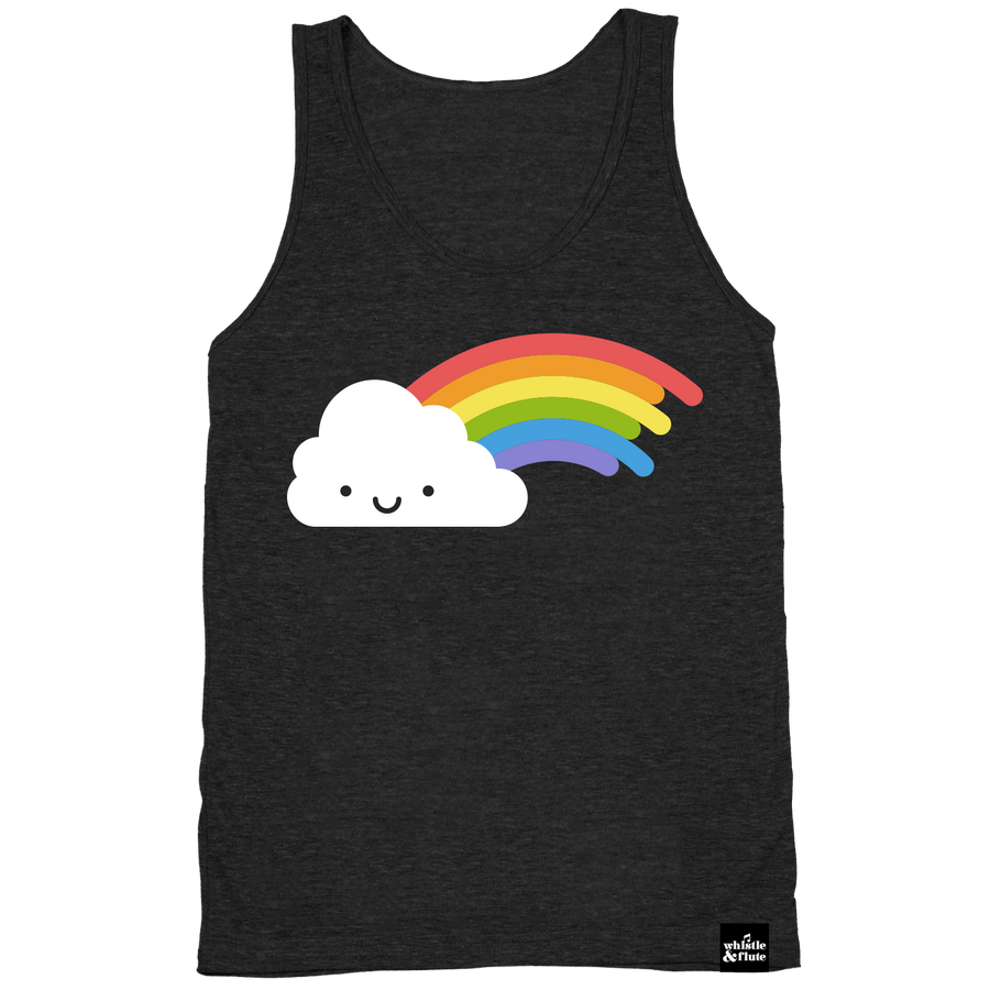 Kawaii Rainbow Tank Top Adult Unisex Dark