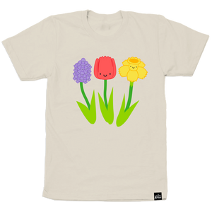 Kawaii Spring Flowers T-Shirt Adult Unisex