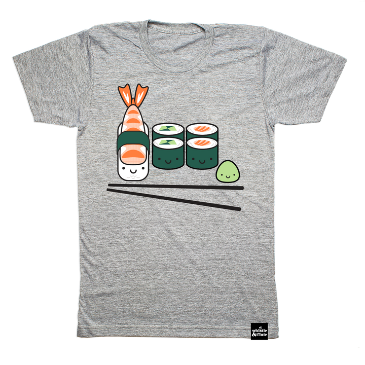 Kawaii Sushi T-shirt Adult Unisex