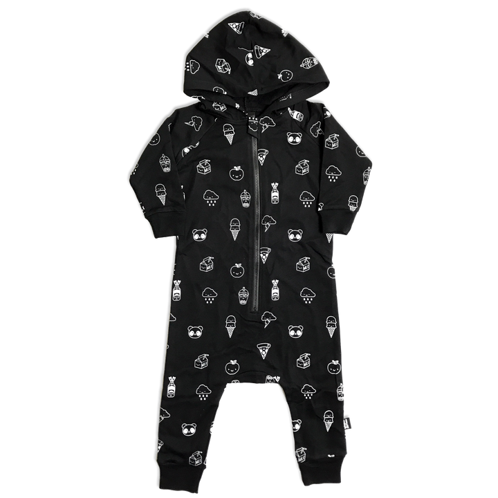 Kawaii All Over Print Hooded Romper