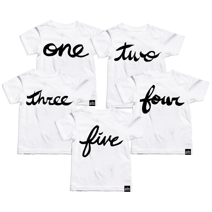 Brush Script Number T-shirt