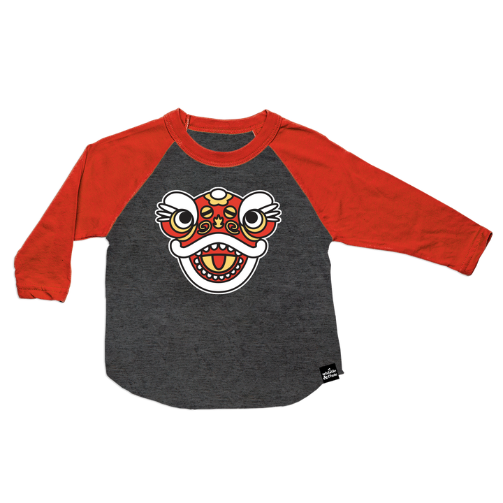 Lunar New Year Lion Dance Baseball T-Shirt