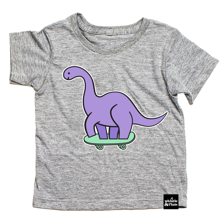 Kawaii Skateboard Dinosaur T-Shirt