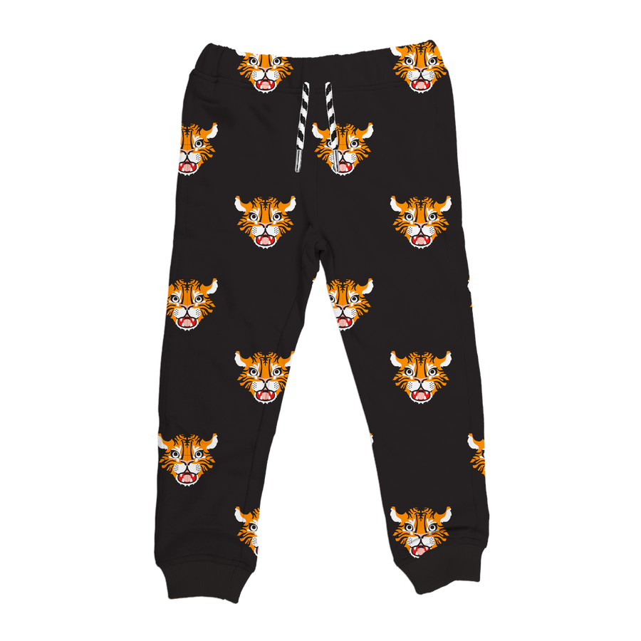 Bamboo Drawstring Joggers - Allover Tiger