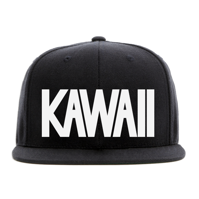 KAWAII Block Text Flat Brim Cap