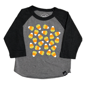 Kawaii Candy Corn Baseball T-Shirt