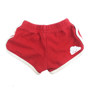 Kawaii Cloud Running Shorts - Red